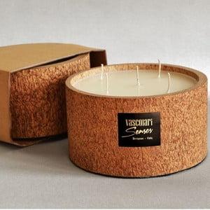 Palmová sviečka Palm Legno s vôňou vanilky a pačuli, 120 hodín horenia