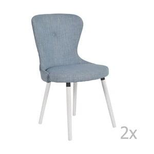 Sada 2 modrých stoličiek RGE Betty