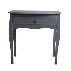 Sivý konzolový stolík zborovicového dreva SOB Oculus