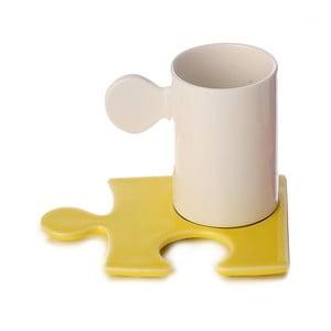 Porcelánový hrnček Puzzle White/Yellow
