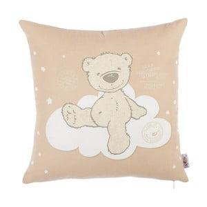 Hnedá obliečka na vankúš s prímesou bavlny Apolena Bear, 35 x 35 cm