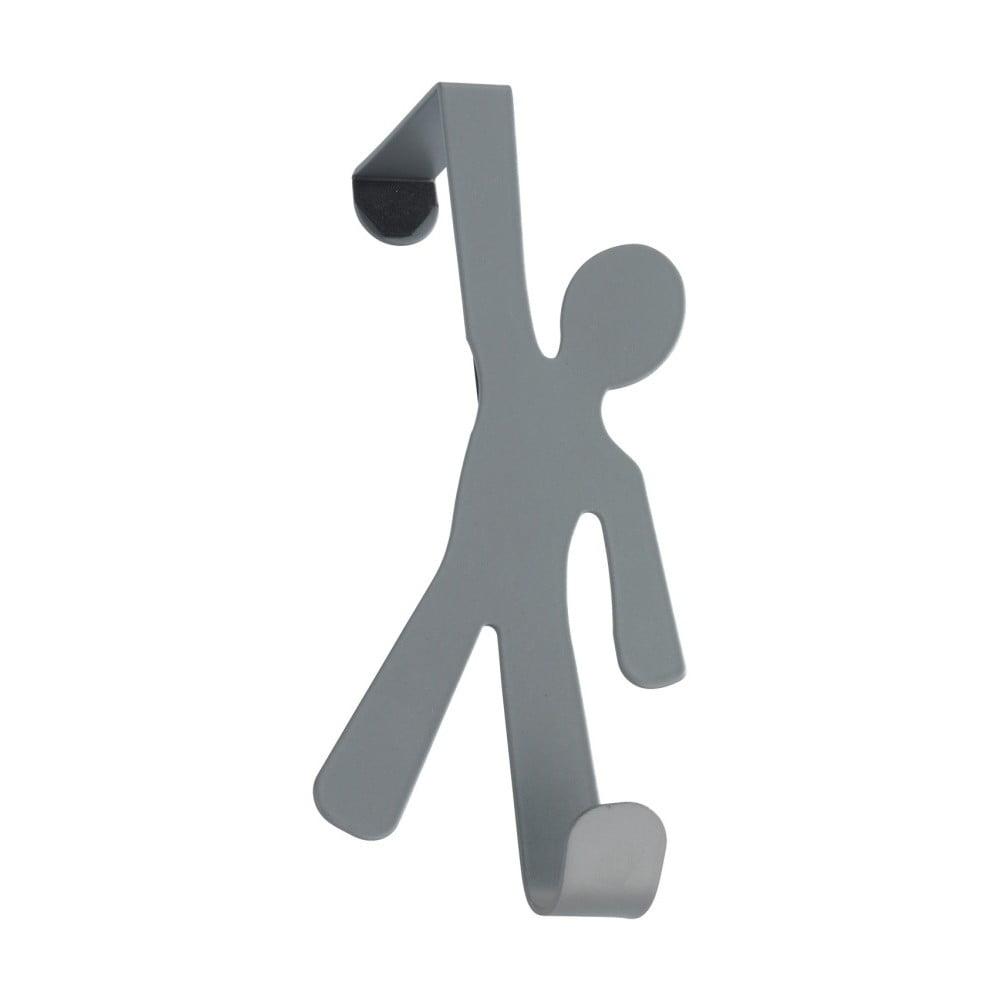 Sivý závesný háčik na dvere Wenko Hook Boy