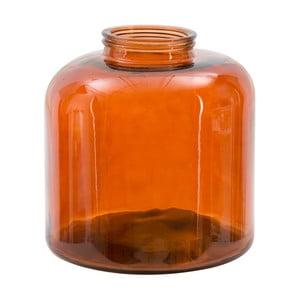 Oranžová váza z recyklovaného skla Mauro Ferretti Put, výška 36 cm