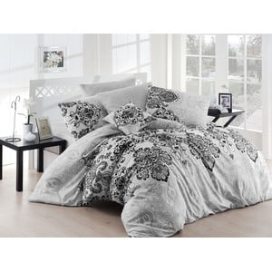 Sivé obliečky a plachta na dvojlôžko Luxury Grey, 200×220 cm
