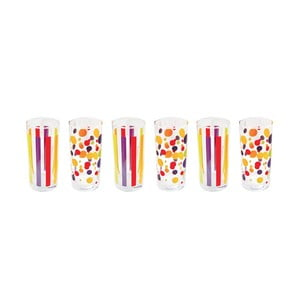 Sada 6 pohárov Colorissime
