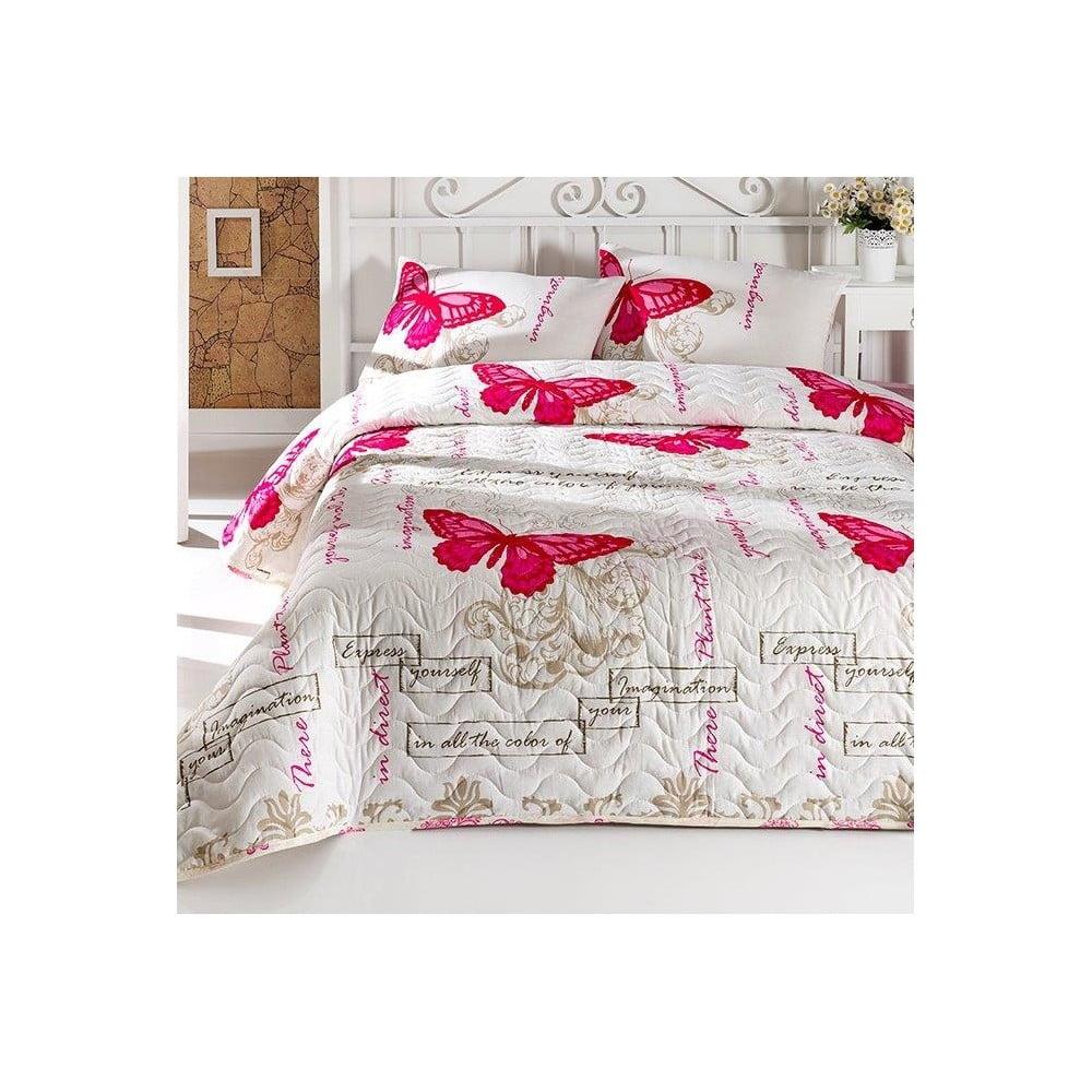 Sada prikrývky cez posteľ a vankúšov Cocona, 200 × 220 cm