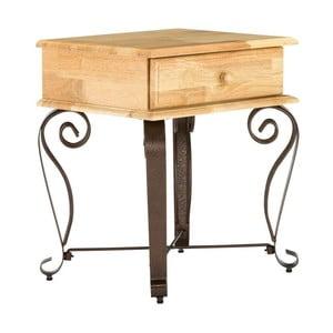 Nočný stolík z dreva z kaučukovníka SOB Constantin