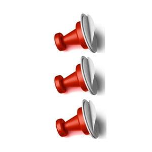 Sada 3 červených magnetických háčikov Reenbergs Multiple
