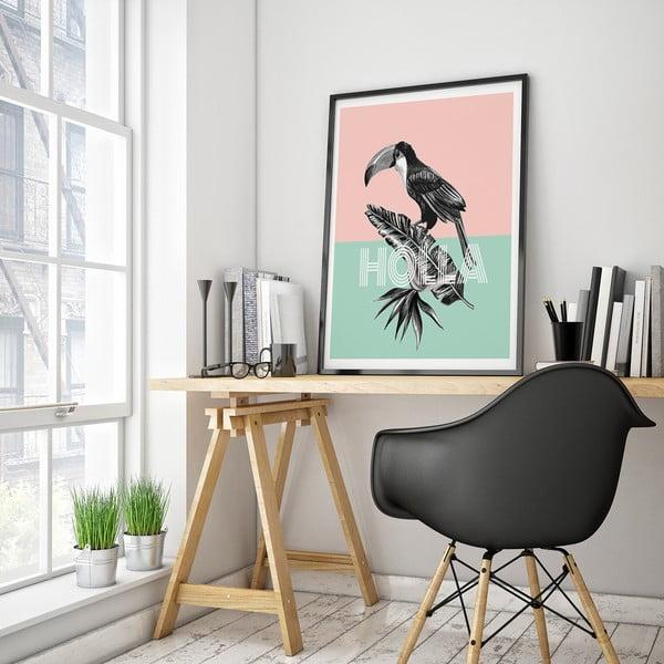 Plagát s tukanom Holla, 30 x 40 cm
