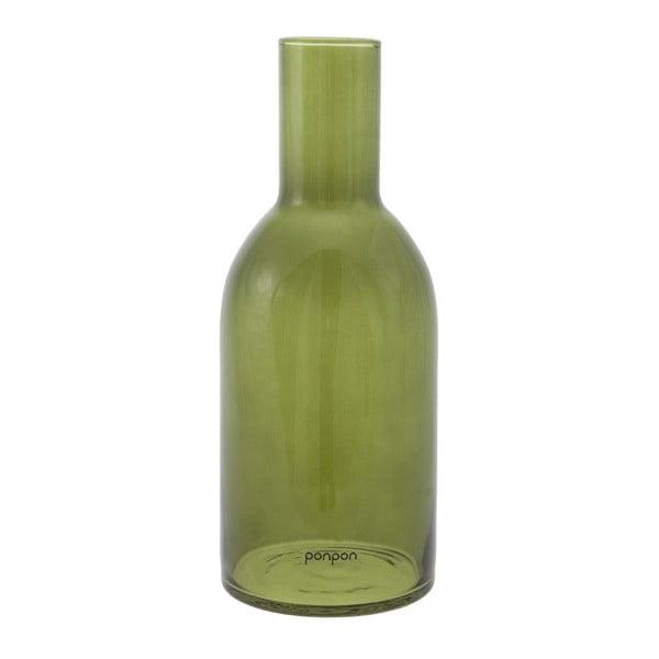 Váza/svietnik Bottle 30,5 cm, zelená