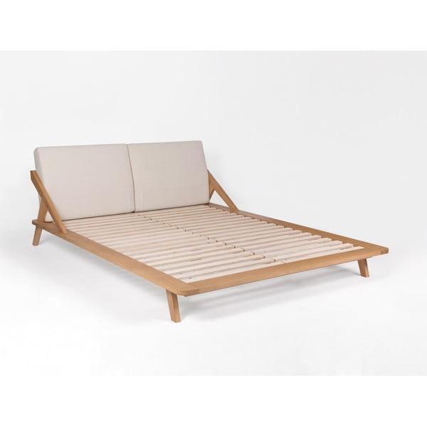 Posteľ z dubového dreva Ellenberger design Nordic Space, 180 x 200cm