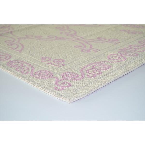 Staroružový odolný koberec Vitaus Primrose, 140x200cm