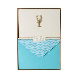Sada 10 komplimentiek s obálkami Portico Designs FOIL Lobster