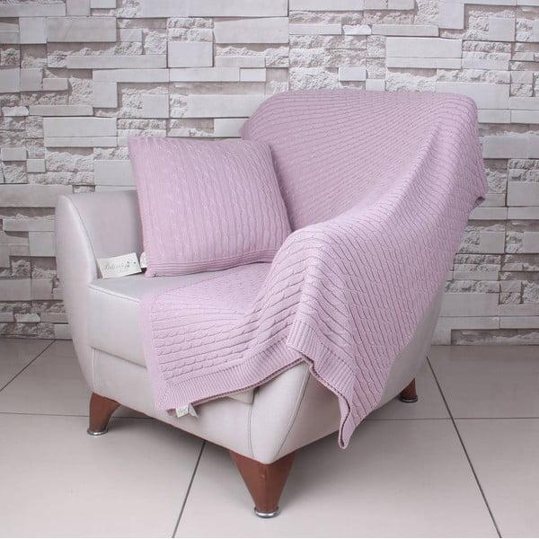 Ružová bavlnená deka Colma