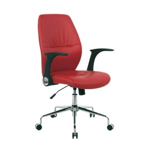 Pracovná stolička na kolieskach Icaro, červená