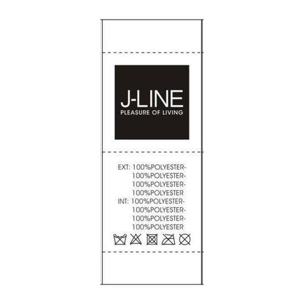Čierny vankúš s perím J-Line