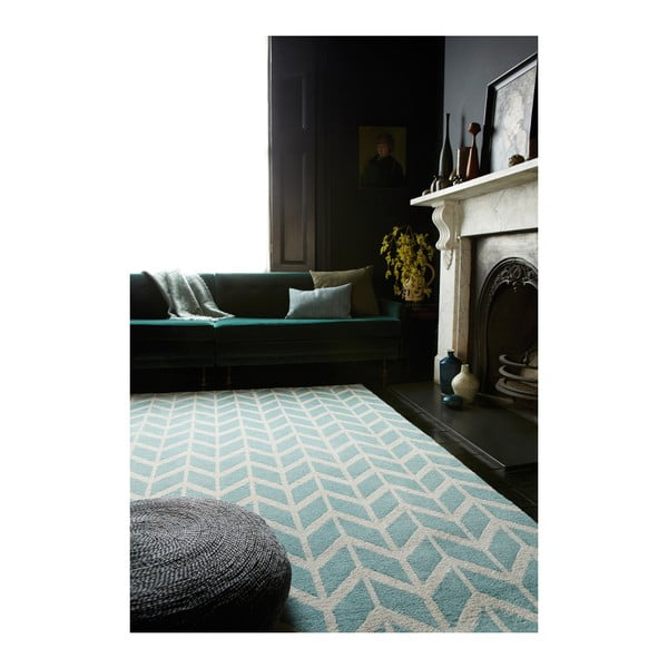 Koberec Asiatic Carpets Chevron Blue, 100x150 cm