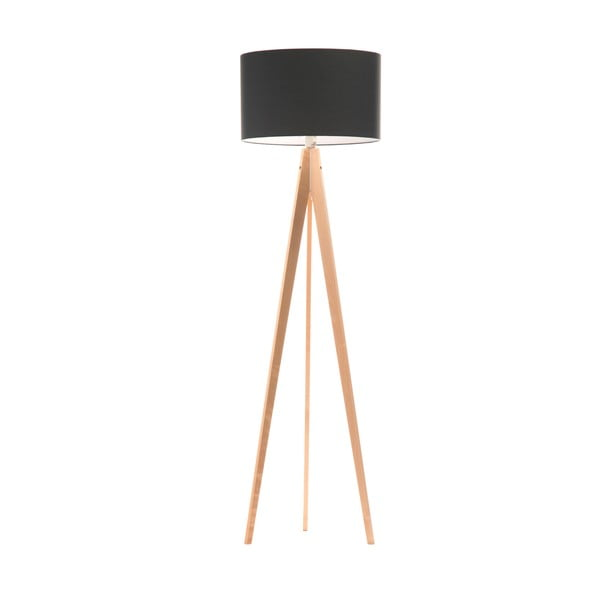 Stojacia lampa Artist Poly Grey/Birch, 150x42 cm