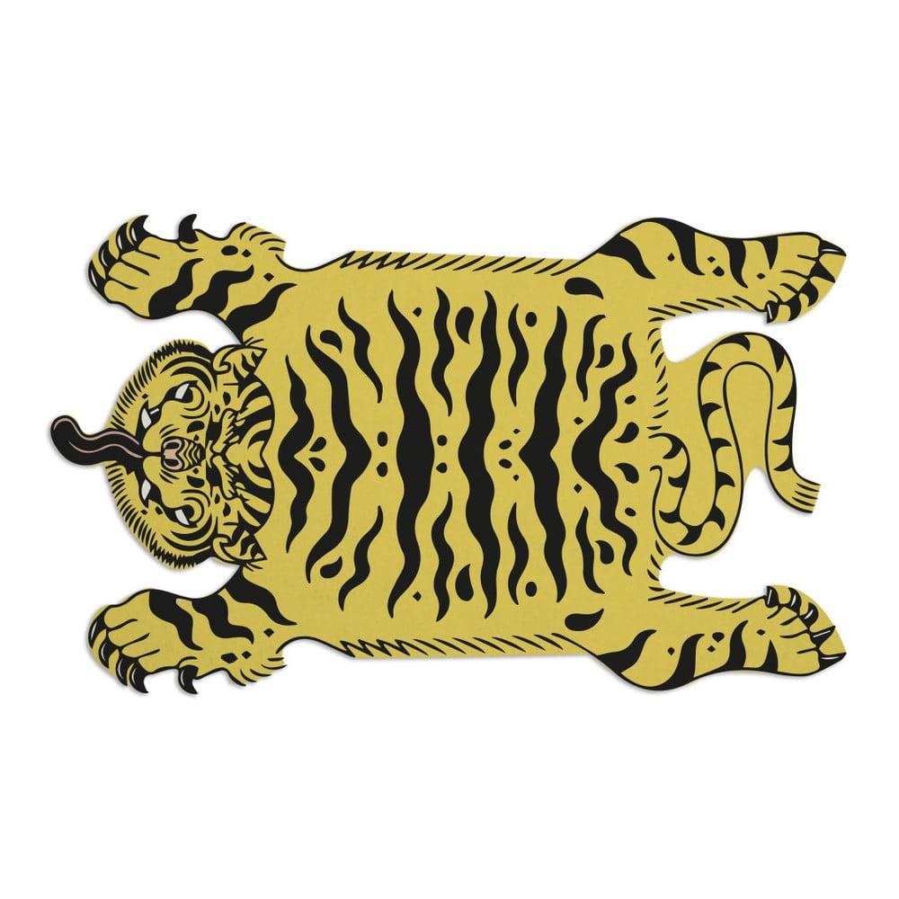 Koberec Really Nice Things Tattoo Tiger, 150 × 150 cm