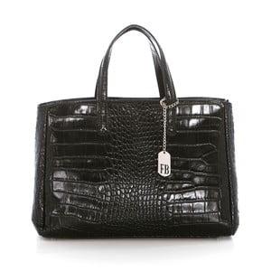 Čierna kožená kabelka Federica Bass Eris