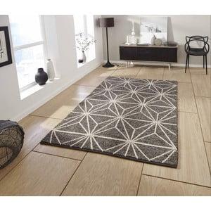 Hnedý ručne tkaný koberec Think Rugs Alpha Brown, 120 x 170 cm