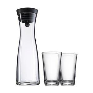 Sada sklenenej karafy a 2 pohárov WMF Basic