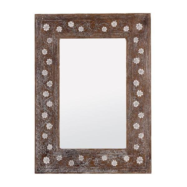 Zrkadlo White Flower, 80x110 cm
