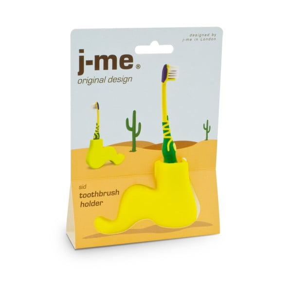 Žltý stojan na zubnú kefku J-Me Sid