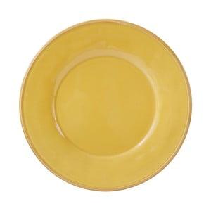 Žltý kameninový tanier Côté Table Const, ⌀28,5cm