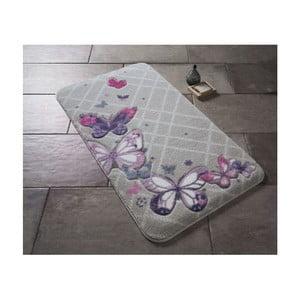 Kúpeľňová predložka Confetti Bathmats Butterfly Plaid Purple, 50 x 57 cm