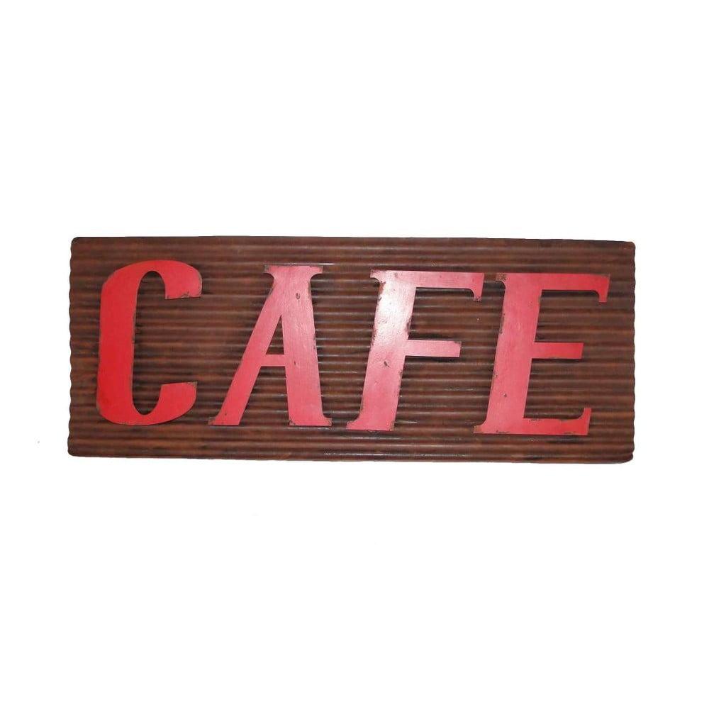 Plechová ceduľa Antic Line Cafe, délka 76 cm