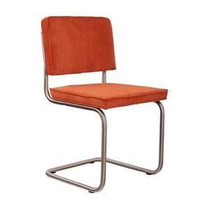 Sada 2 oranžových stoličiek Zuiver Ridge Brushed Rib