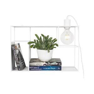 Biele stolové/nástenné svietidlo Globen Lighting Shelfie