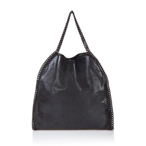 Čierna kožená kabelka Markese Amelia