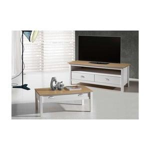 Biely TV stolík zborovicového dreva SOB Jayde