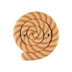 Oranžový detský vankúš z organickej bavlny OYOY Lollipop, ⌀ 30 cm