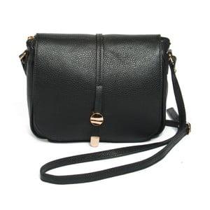 Čierna kožená kabelka Renata Corsi Ela