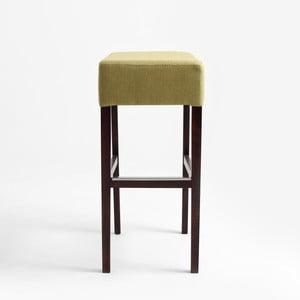 Limetkovozelená barová stolička s tmavohnedými nohami Custom Form Poter