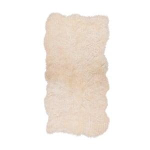 Biely kožušinový koberec s krátkým vlasom Darte, 170 x 110 cm