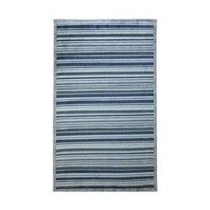Modro-sivý  koberec Webtappeti Lines, 137 x 200 cm