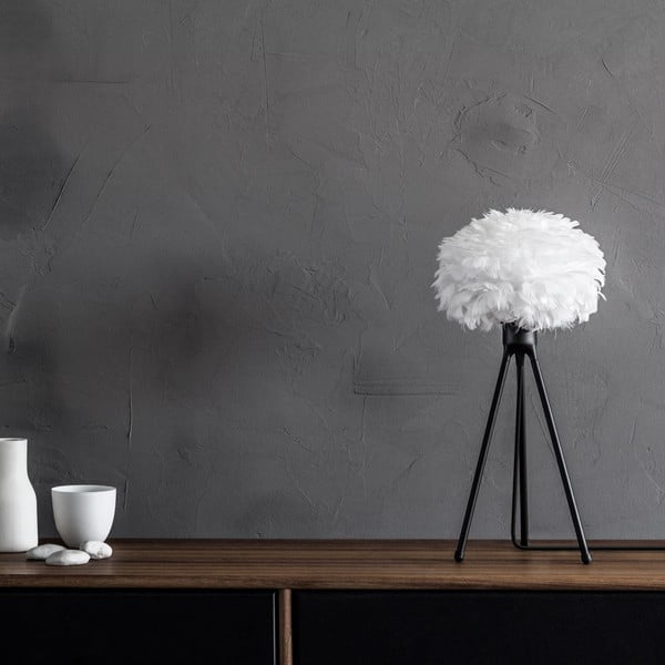 Čierny stolový stojan tripod na svietidlá VITA Copenhagen, výška 36 cm