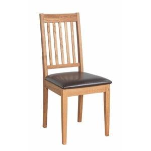 Sada 2 prírodných stoličiek z dubového dreva Folke Ella