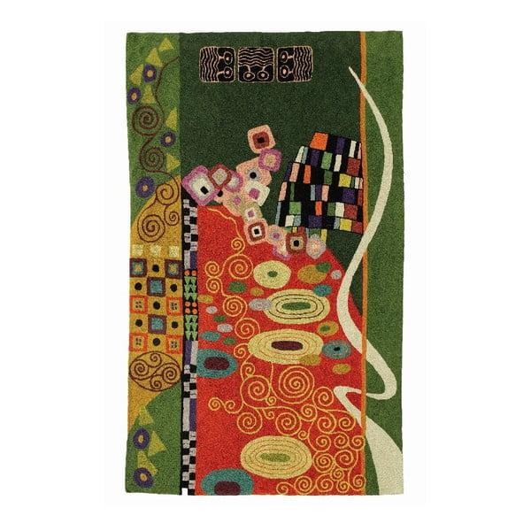 Koberec Klimt Brown/Green, 150x90 cm