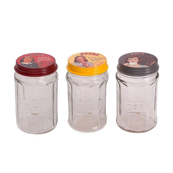 Sada 3 pohárov Glass Jar