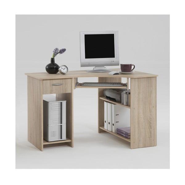 Rohový pracovný stôl Felix, dub