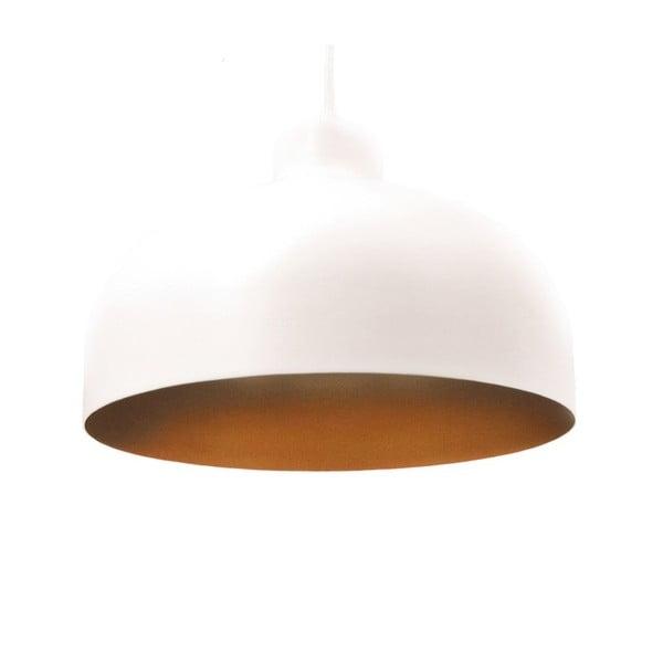 Bielo-zlaté stropné svetlo Loft You B&B, 33 cm