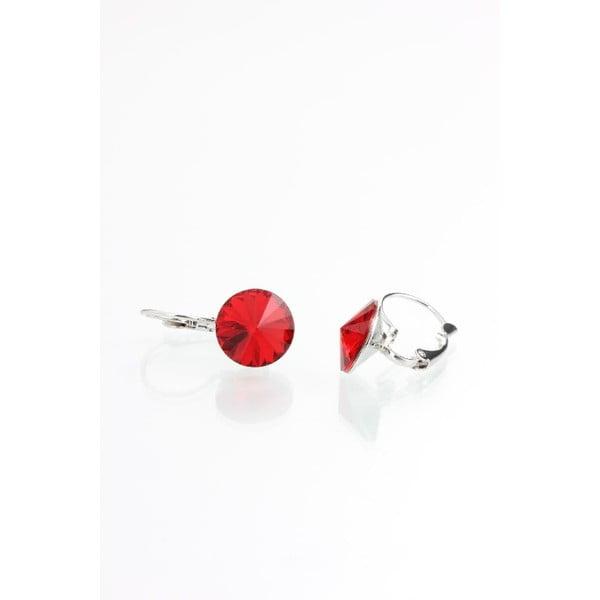 Červené náušnice s krištáľmi Swarovski® Yasmine Longie