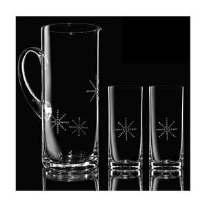 Sada karafy a 2 pohárov Star so Swarovski Elements v luxusnom balení