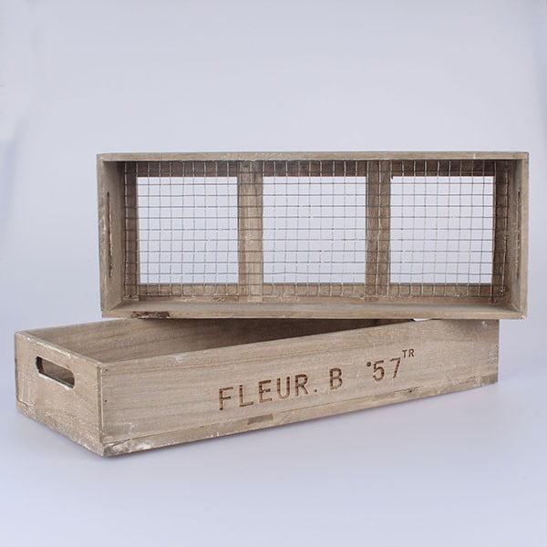 Sada 2 prepraviek s pletivom Fleur B57