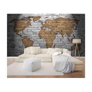 Veľkoformátová nástenná tapeta Vavex Bricks Map, 368×280 cm